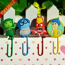 Free Shipping 4PCS Inside Out  Cartoon Bookmark Clip/Memo Clip/Paper Clip/Bookmark,Kids Party Gifts(China (Mainland))