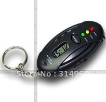 Free Shipping Digital LED ALCOHOL Breath Tester Breathalyser Time New 50pcs/lot(China (Mainland))