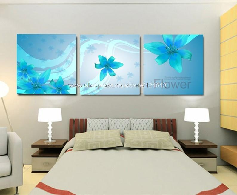 3 Piece Wall Art On Canvas Wall Oil Painting Modern Home Decoration Blue Windows Western Paintings Free Shipping Pop Art Buy(China (Mainland))