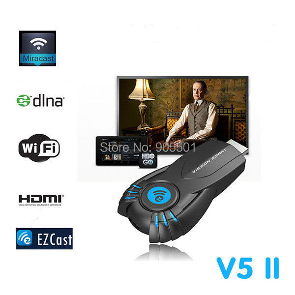 Full HD 1080p ezChromecast Digital HDMI Streamer Media Player Chrome Cast Wifi display dongle V5II Vsmart tv Stick - Win-Win store