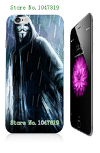 Mobile Phone Cases 2016 Vendetta Anonymous Design Plastic White Hard Case For iphone 6 6s Free Shipping