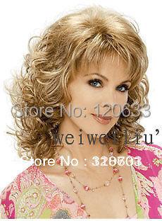 Wholesale Hair Nature 100% charming  Classic pelo, el pelo rubio de moda, Lady peluca, longitud <br><br>Aliexpress