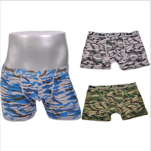 Hot Sale 2015 Men Boxers Camouflage Print Cotton Men's Shorts Fashion Underwear Comfortable Boxer Wholesale 50014
