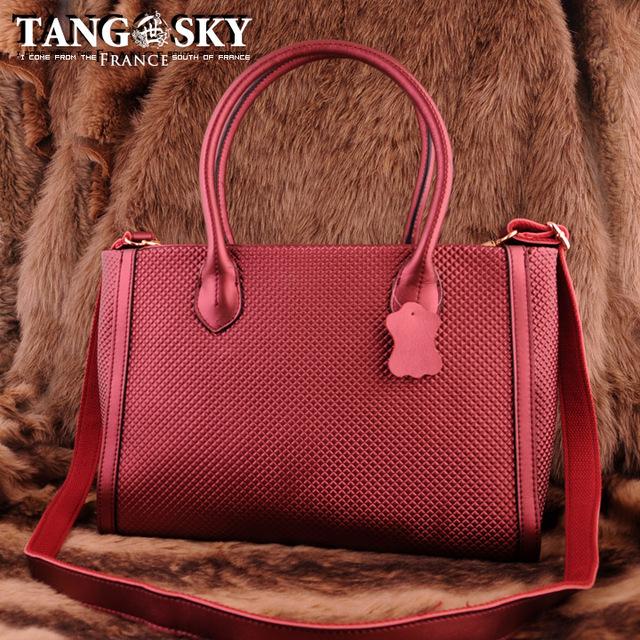 free shipping Cowhide tassel dimond plaid ultralarge shoulder bag bags casual fashion ol female dual-use package bag/handbag.132