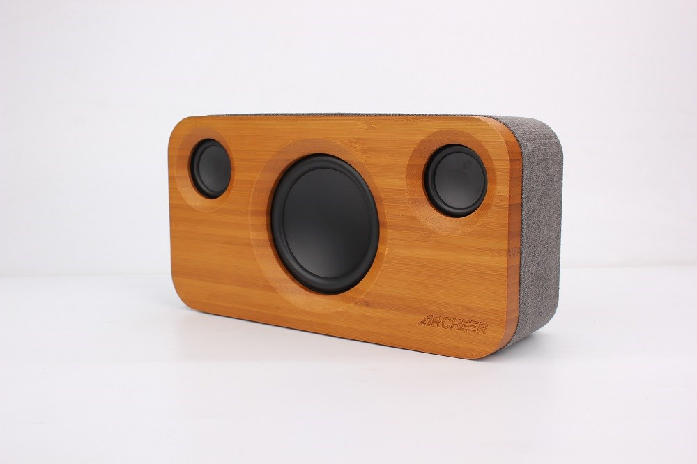 Archeer Bamboo Stereo Speaker 2.1 Channel Sound Dual Embedded Speakers Enhanced Sound Stage For Phone PC Speaker(China (Mainland))