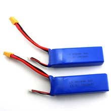 Buy 2pcs 11.1V 2800mah 3S Battery WLtoys V303 XK X350 Cheerson CX-20 CX20 RC Quadcopter drone Spare Parts for $40.83 in AliExpress store