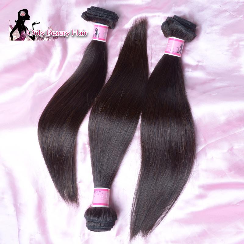 Cheap Brazilian Straight Hair 100% Human Hair Weaving Brazilian Virgin Hair Natural Wave Good Hair Extension Free Shipping(China (Mainland))
