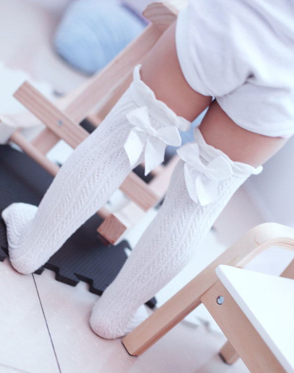 leg socks for girls baby Winter cotton Socks High Knee Princess Solid Cotton Dress Socks Leg Warmers Tube Socks 6pairs/lot