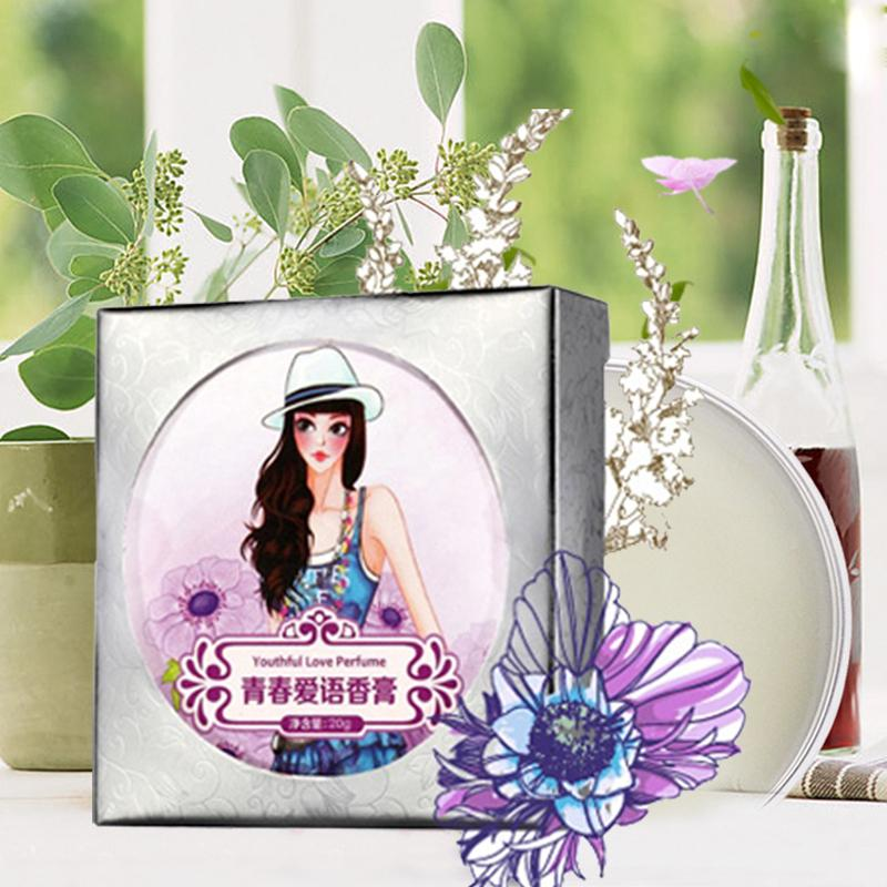 AFY Natural Young Love Original Solid Perfume None Alcohol Cream Nourishes Skin Care Fragrances(China (Mainland))