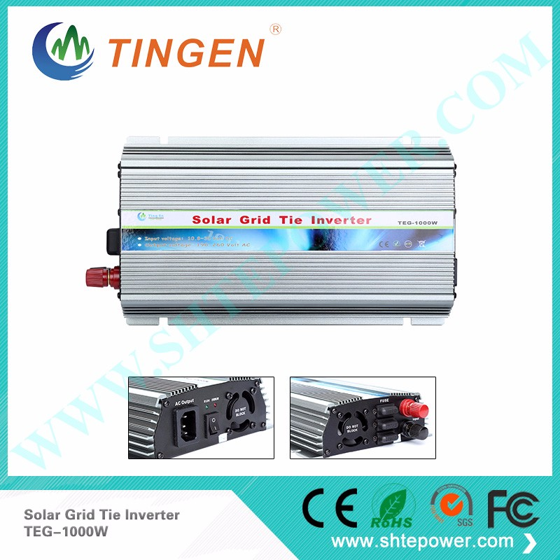 Pure Sine Wave MPPT Control DC to AC 1000W Grid Tie Solar Inverter(China (Mainland))