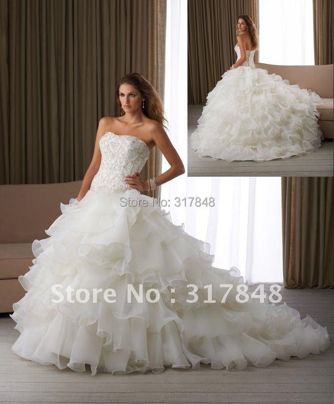 Freeshipping gorgeous noble designer christmas beading for Designer ball gown wedding dresses