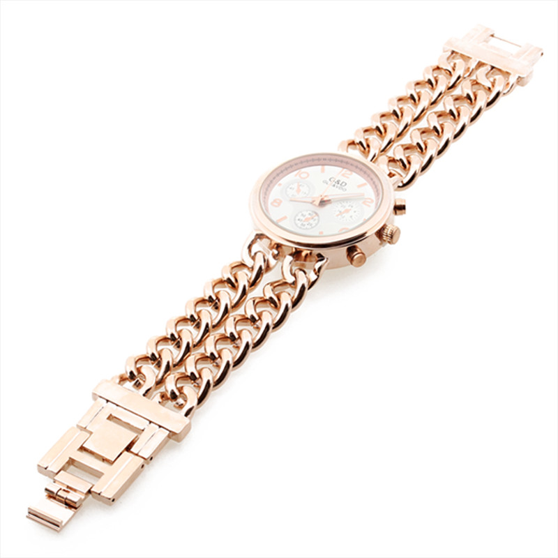 Twin Curve Chains Women watches Wristwatch Fashion quartz watches For Nobel Ladies 2016 new arrive watches Luxury Gift to Lovers<br><br>Aliexpress