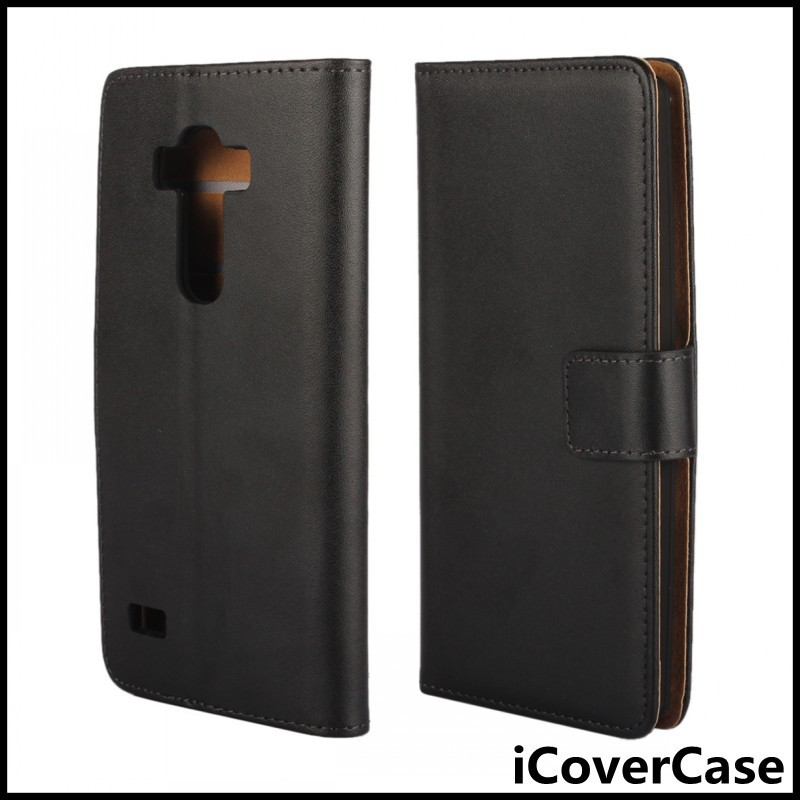 Book Flip Stand Wallet Genuine Leather Case for For LG G4s ,G4 Beat, G4 s , sH735