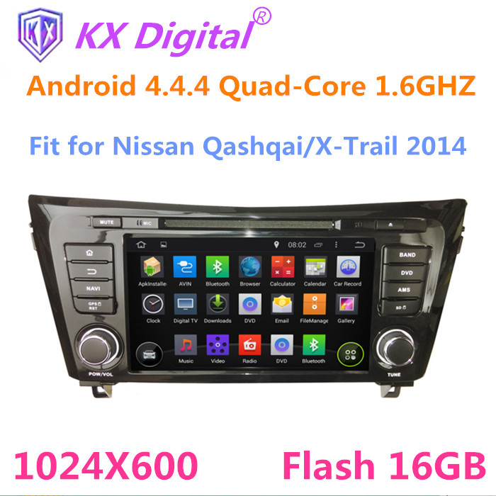 8 inch 2 din car dvd gps for Nissan Qashqai X-Trail 2014,Android 4.4.4 Quad-core car dvd with Bluetooth WIFI IPOD camera input(China (Mainland))