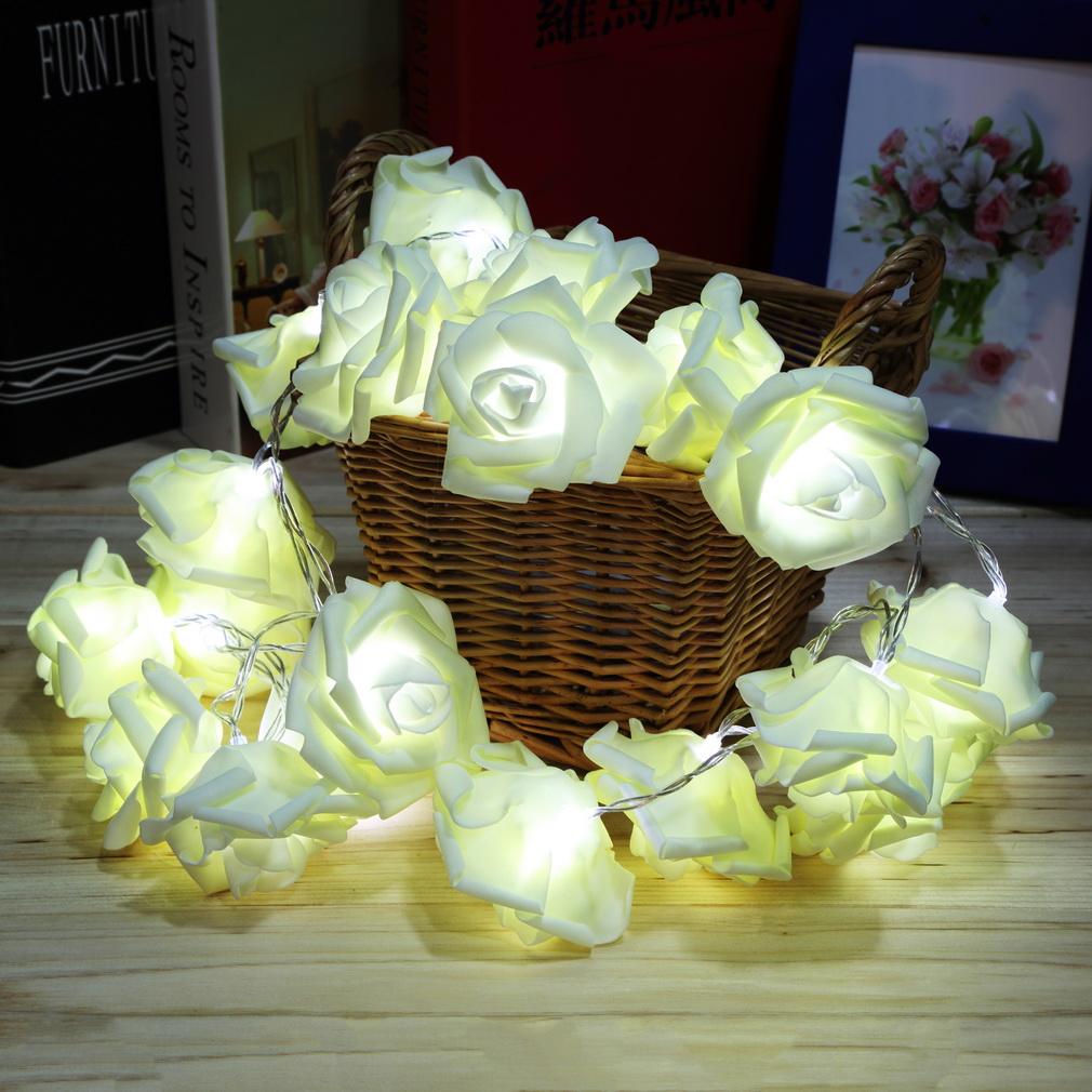 Guirnalda de flores led
