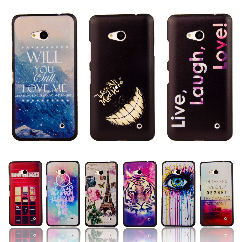 For Lumia 640 Anchor Tribal Owl Cartoon Pattern Matte Back Case for Microsoft Nokia Lumia 640 Cell Phone Protective Cover Bags(China (Mainland))