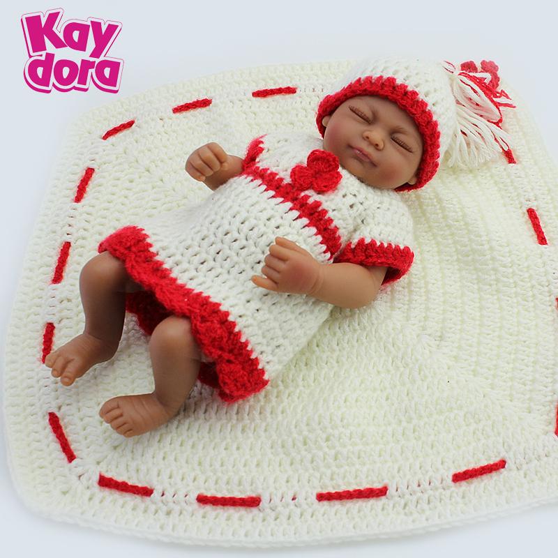 "full body silicone reborn 10"" Baby reborn doll girl handmade soft fashion lifelike boneca reborn babies toys for kids(China (Mainland))"