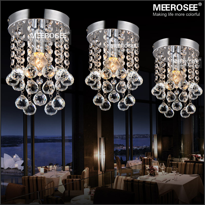 acheter 1 lumi re lustre de cristal luminaire petits clear crystal lampe lustre. Black Bedroom Furniture Sets. Home Design Ideas