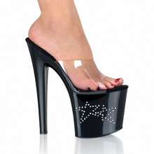 supply set auger model shows the host of the lacquer that bake sexy stars shoes fashionable nightclub cool high-heeled slippers(China (Mainland))