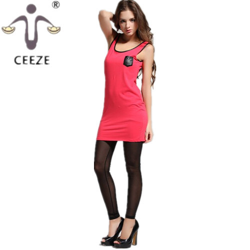 Sexy sleeveless mini dress new 2015 summer fashion show that thin solid color round collar package buttocks all yards dresses(China (Mainland))