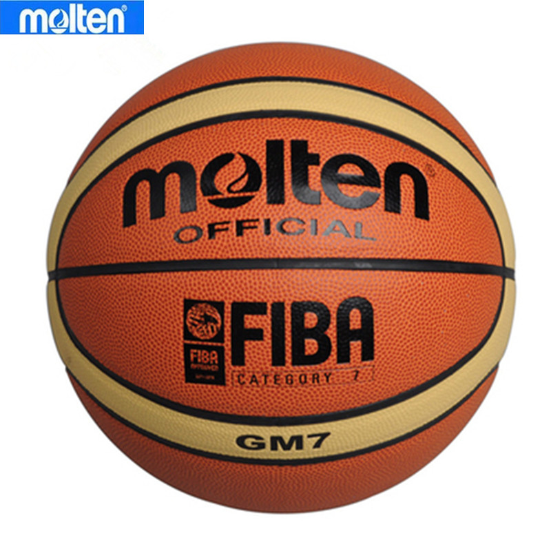 Brand Genuine Size7 Molten GM7 Basketball Ball PU Leather Men Outdoor Basketball Training Equipment With Free Net Nag+Pin(China (Mainland))