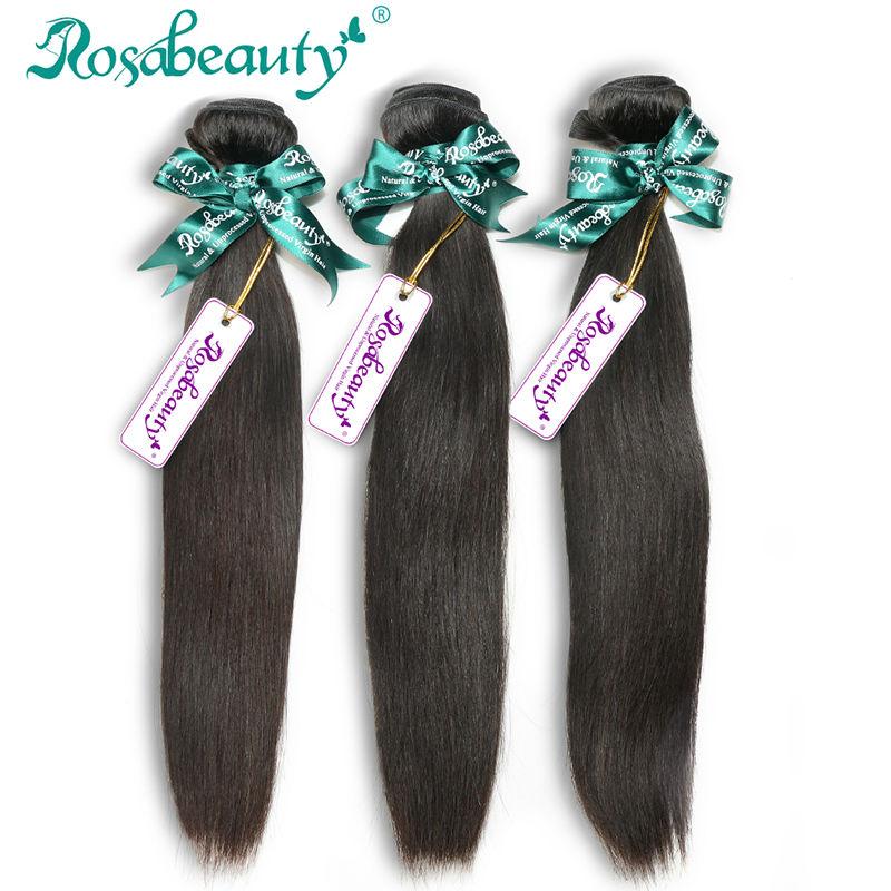 Rosa Hair Products Grade 6A Malaysian Virgin Hair Straight 3 Bundles Malaysian Straight Hair Human Hair Bundles Free Shipping
