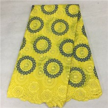 Buy 2017 Latest Yellow African Laces High Quality Swiss Voile Lace Fabric Nigerian French Cotton Lace Fabric For Dress PL-110806 for $71.50 in AliExpress store