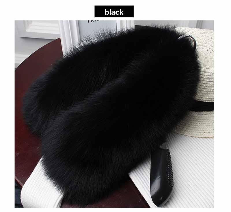 fox fur collar black 1