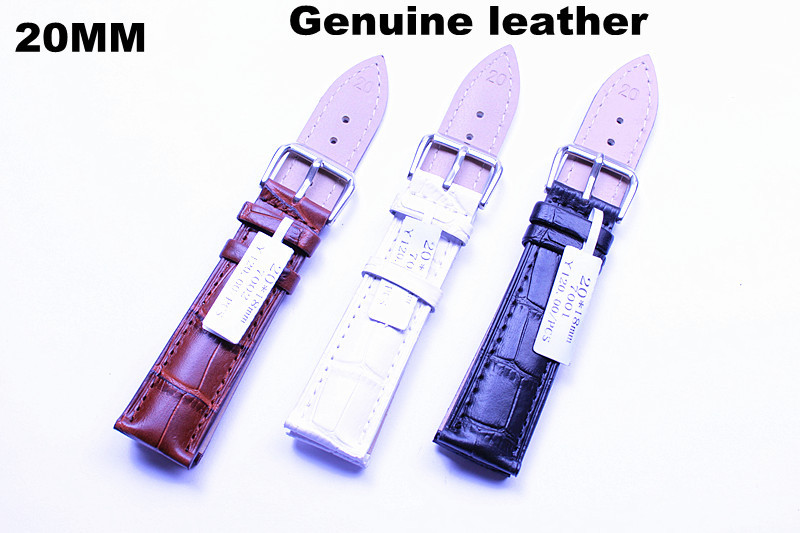Wholesale 10pcs /lots High quality 20MM genuine leather Watch band watch strap - 3 color available - 72901(China (Mainland))