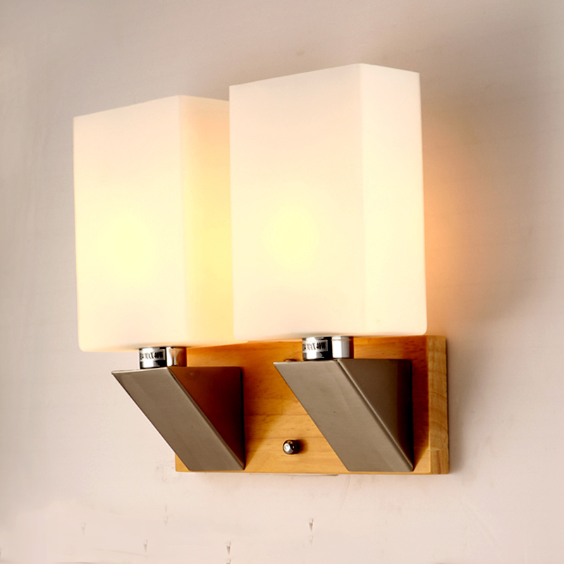 single and double led wall lamp vintage industrial solid