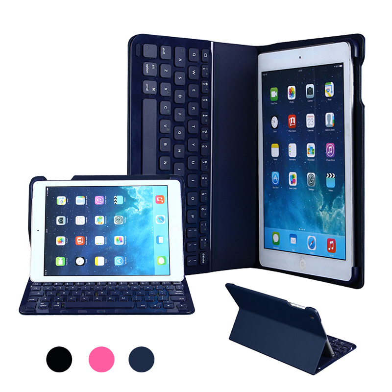 For Apple iPad Air / Air 2 iPad 5/6 Ultra Thin Wireless Bluetooth Keyboard & Leather Case Cover(Hong Kong)