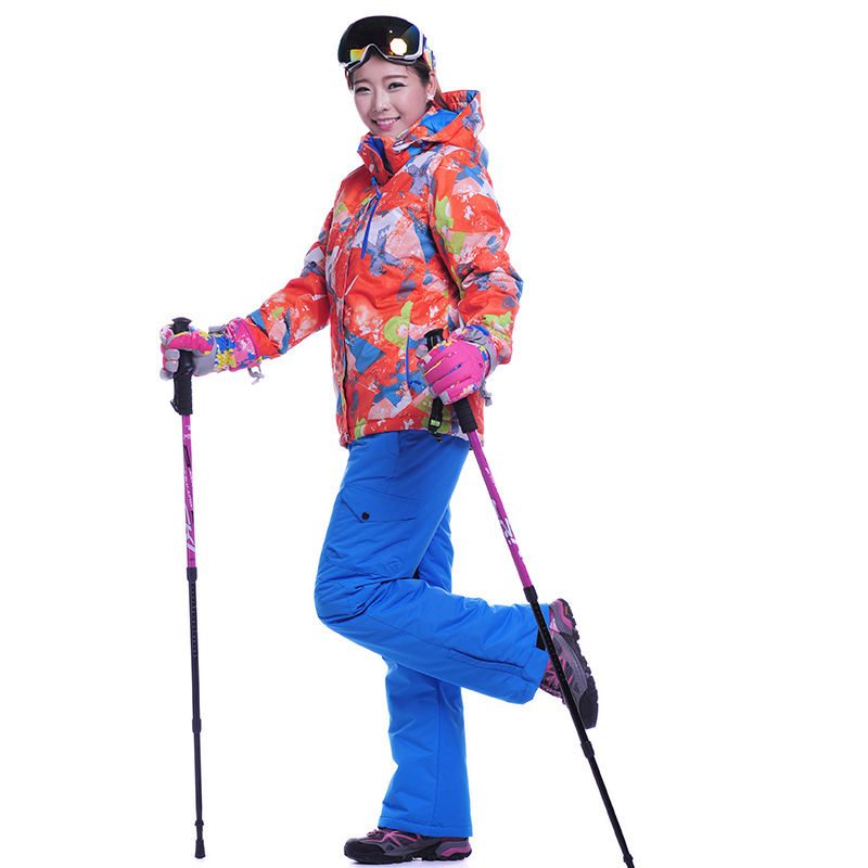 High Quality Ski Set Pants And Jacket Snowboard Winter Hiking Snow Trousers Waterproof Pants Outdoor Sport Ski Jacket Keep Warm