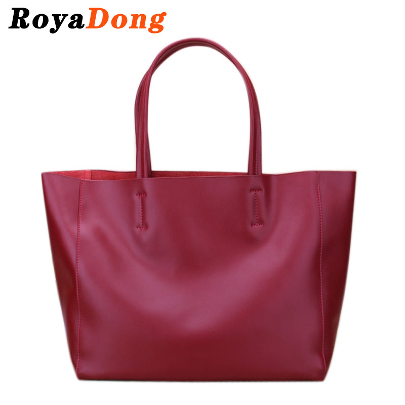 RoyaDong 2015 Genuine Leather Bags Women Tote Bags High Quality Cowhide Leather Handbags Shoulder Bag Ladies Bolsas Brand Sac A<br><br>Aliexpress