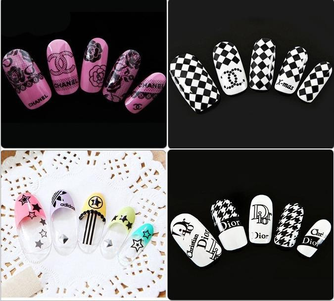 1 Sheet 2015 Beauty Letter Flower Etc Water Transfer Sticker Nail Art Decals Nails Wraps Temporary Tattoos Watermark Nail Tools(China (Mainland))