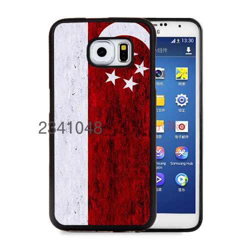 flag singapore soft edge cellphone cases for samsung s3 s4 s5 note2 note3 note4 note5 cover case(China (Mainland))