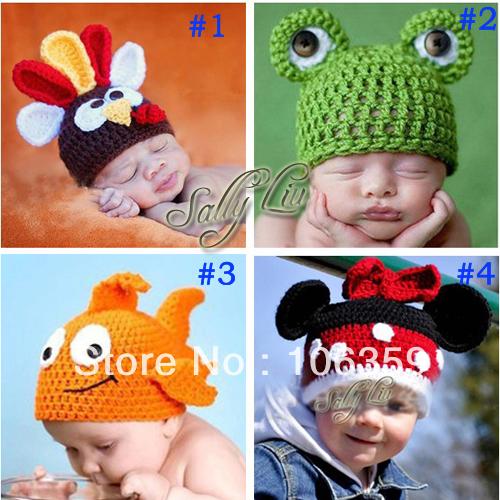 Gorros niños encantadores patrón de ganchillo bebé sombrero niños ...