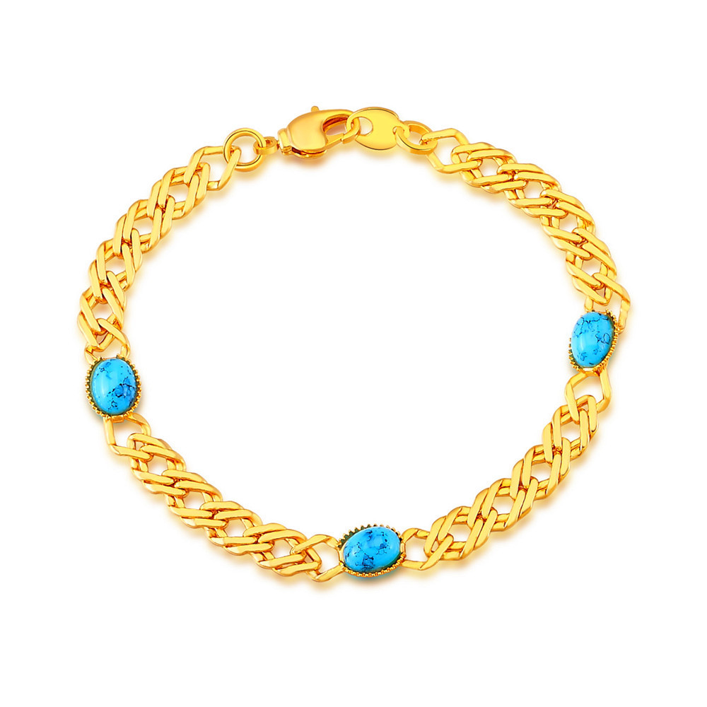 High quality unique natural stone turquoise bracelets for Turquoise colored fashion jewelry