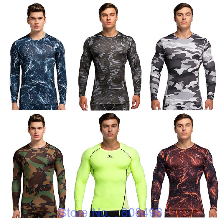 Men compression shirt base layer skin Fitness Excercise gym soccer football training running shirts underwear tights jersey(China (Mainland))