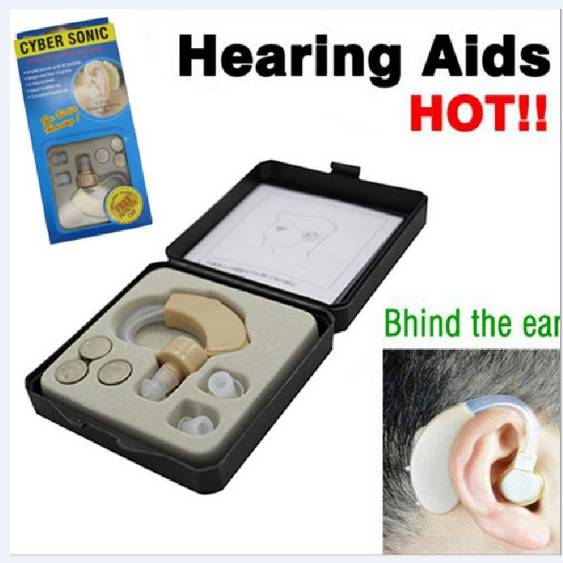 New Small and Convenient BTE Hearing Aid Aids Best Sound Voice Amplifier Volume Adjustable Behind the Ear(China (Mainland))