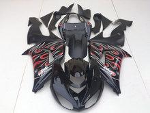 Buy Custom Fairing Kit for KAWASAKI Ninja ZX10R 06 07 ZX 10R 2006 2007 zx10r 06 07 ABS Double flames black Fairings set+7gifts KG19 for $346.86 in AliExpress store