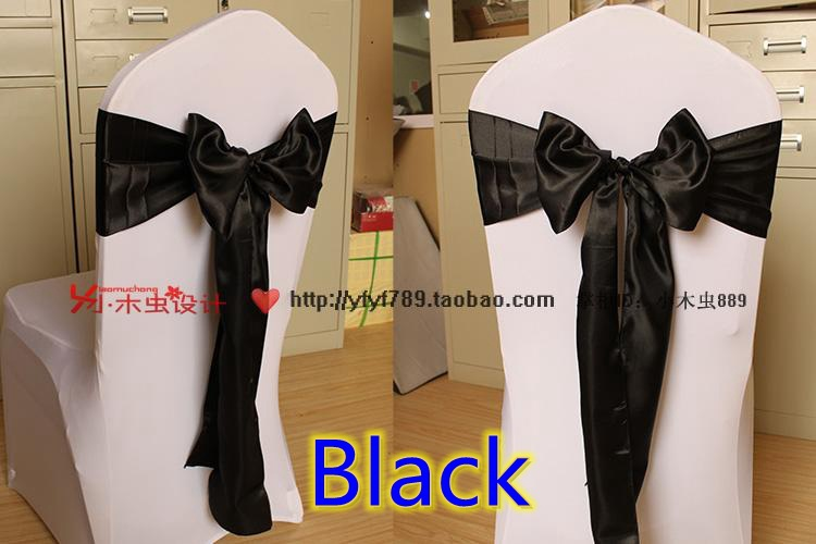 black satin chair bows 2