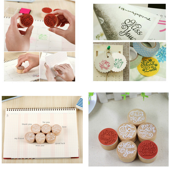 High quality 3x2.3cm DIY Assorted Retro Vintage Floral Flower Pattern Round Wooden Rubber Stamp Scrapbook(China (Mainland))