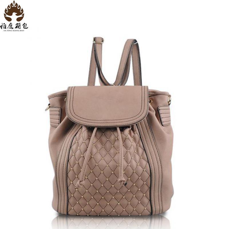 2016 New Backpack Bag Brand Backpack School Bag Lady Wind Diamond Rivets Travel Backpack Backpack School Girl Women Backpack