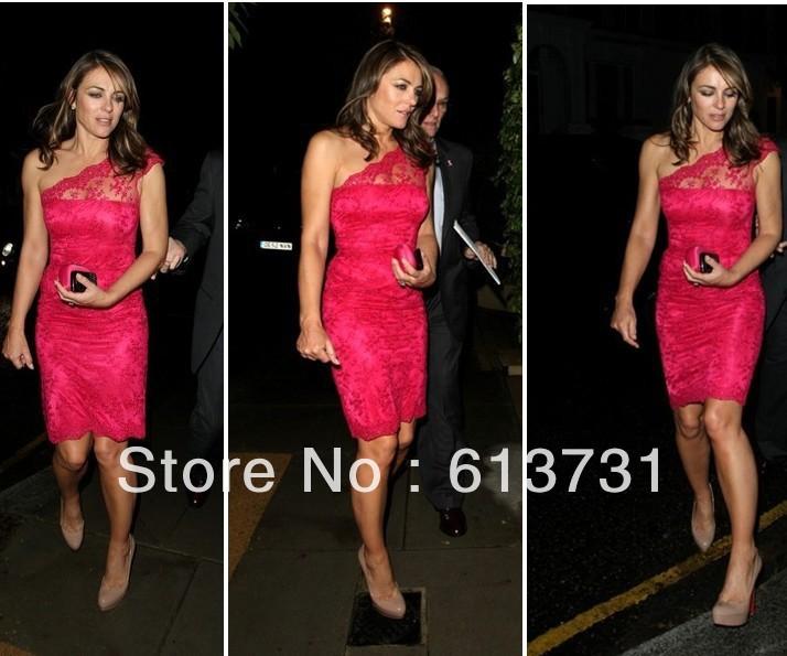 hot pink one shoulder cocktail dress « Bella Forte Glass Studio