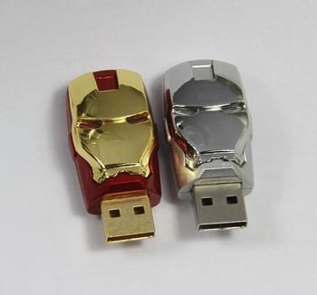 The Fashion Design of Iron Man USB Flash Drive 1GB 2GB 4GB 8GB 16GB 32GB 64GB