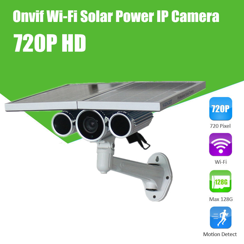 Energy Saving 1Megapixel HD Outdoor Waterproof H.264 8mm Lens Solar Power Security IP Camera Wireless WANSCAM HW0029-3(China (Mainland))