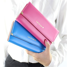 Promotion 2015 HOT Fashion Lady Women Bag popular Purse Long Wallet Bags PU Handbags Card Holder