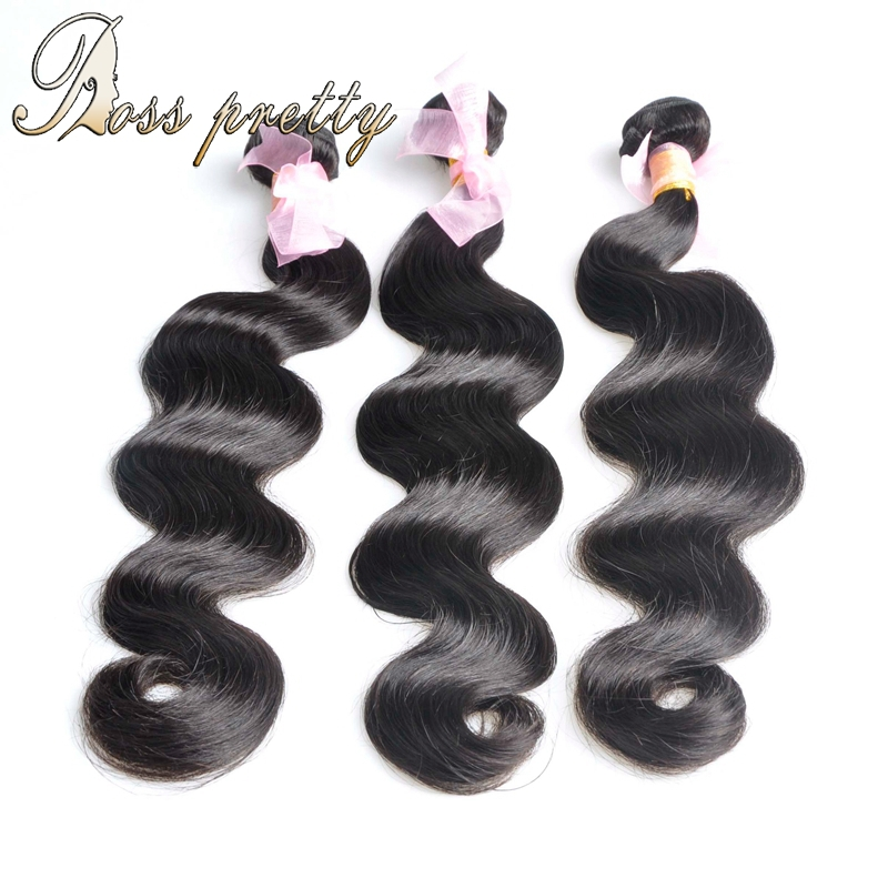 3pcs/lot 6A peruvian virgin hair body wave unprocessed human hair extension with DHL free shipping<br><br>Aliexpress