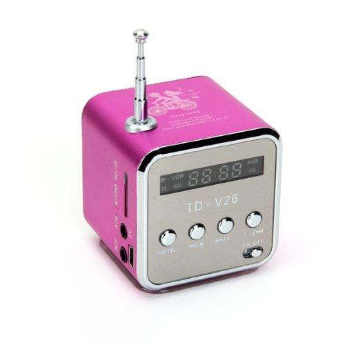 Portable HIFI Mini Speaker MP3 Player Amplifier Micro SD TF Card USB Disk Computer Speaker with FM Radio(China (Mainland))