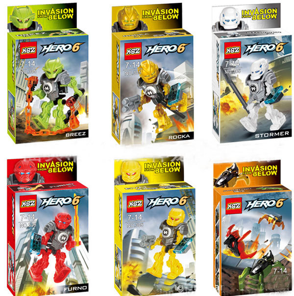 Free shipping, 2014 new arrival Hero Factory Star Soldier War Building Blocks Sets 6pcs/lot Action Figure Educational ToysHT1186(China (Mainland))